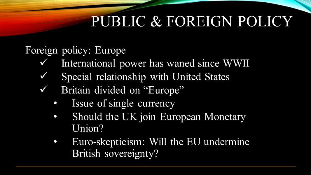 Public & foreign Policy
