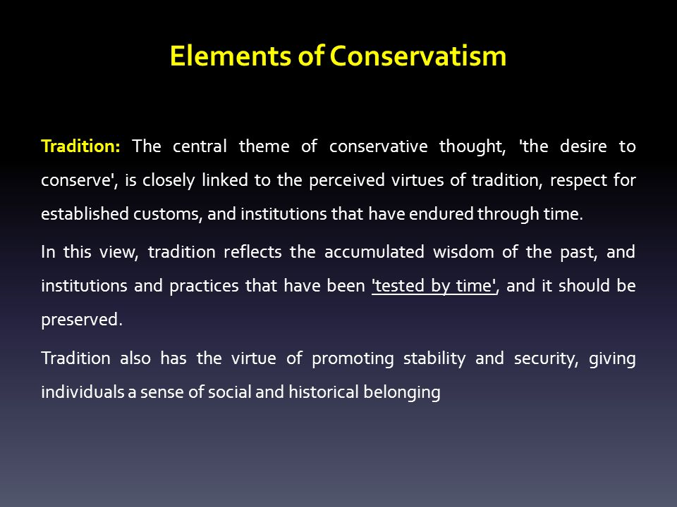 Elements of Conservatism
