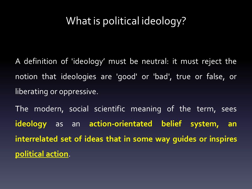 What is political ideology