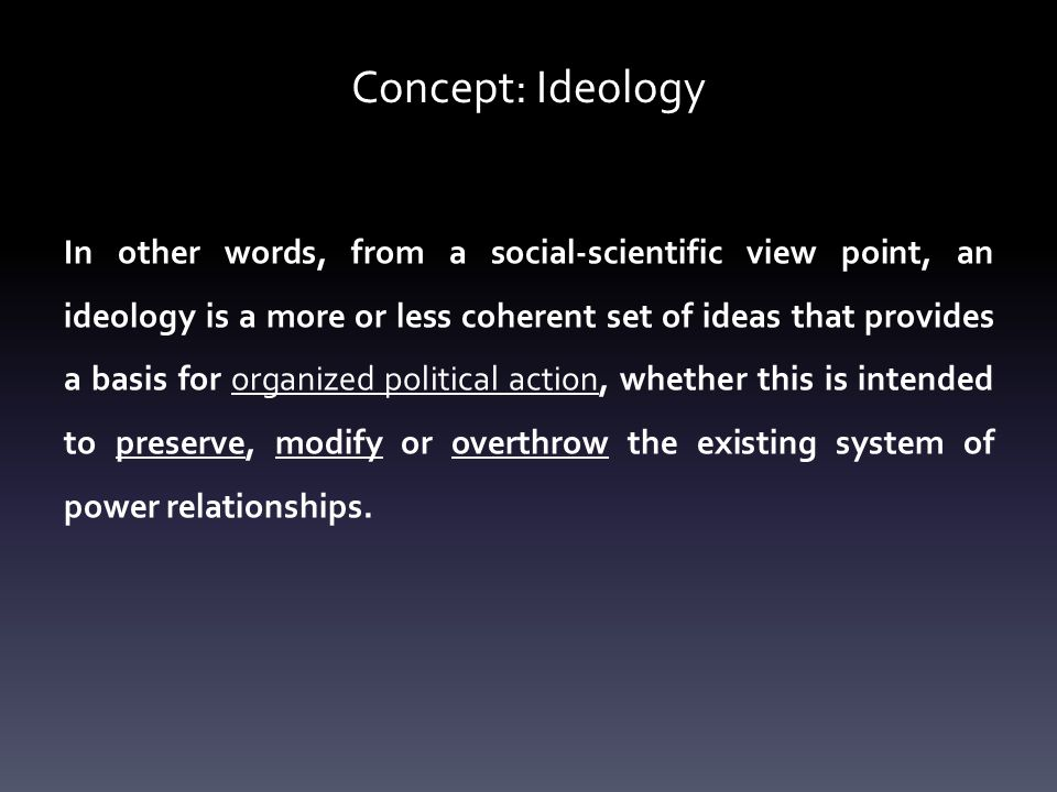 Concept: Ideology