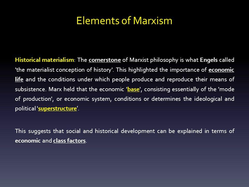 Elements of Marxism