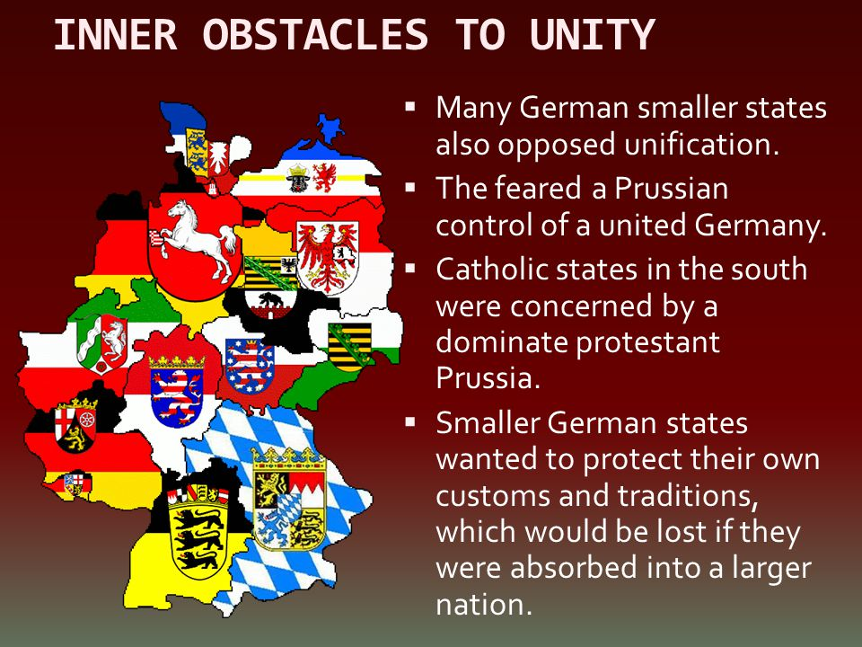 INNER OBSTACLES TO UNITY