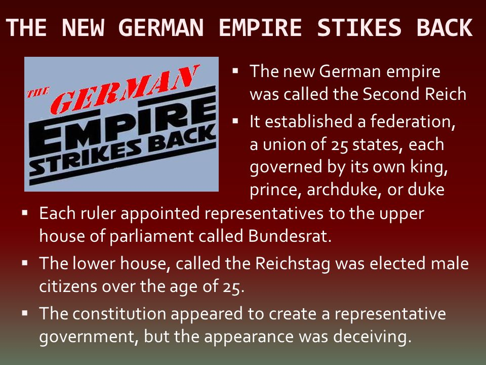 THE NEW GERMAN EMPIRE STIKES BACK
