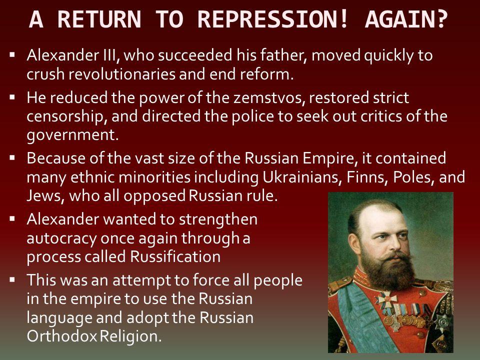 A RETURN TO REPRESSION! AGAIN