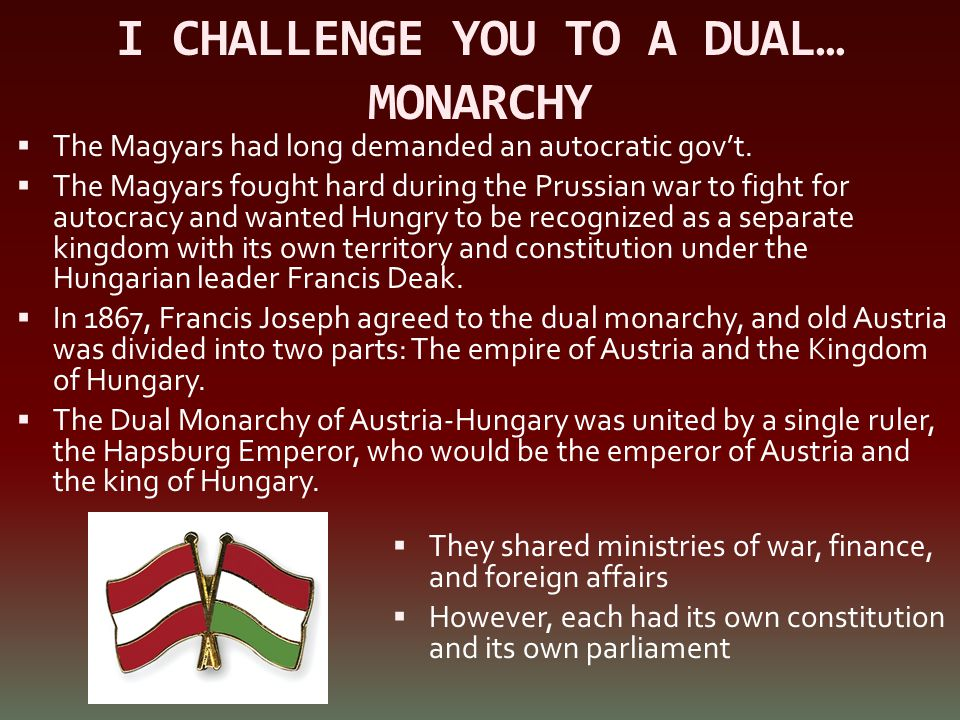 I CHALLENGE YOU TO A DUAL… MONARCHY
