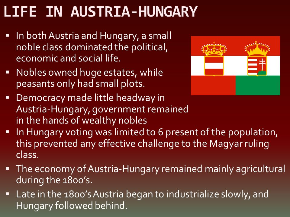 LIFE IN AUSTRIA-HUNGARY