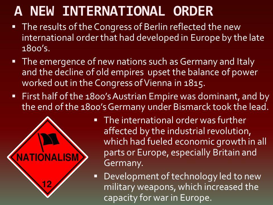 A NEW INTERNATIONAL ORDER