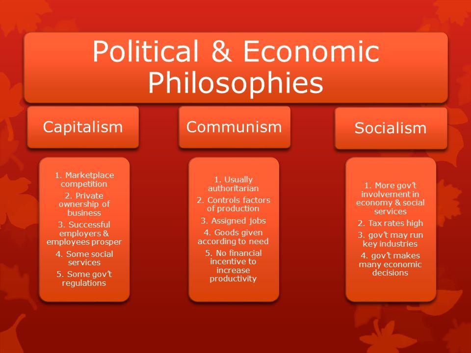 Political & Economic Philosophies