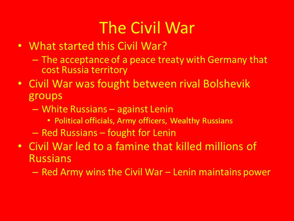 The Civil War What started this Civil War
