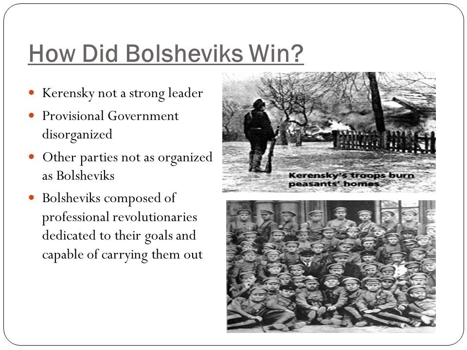 How Did Bolsheviks Win Kerensky not a strong leader
