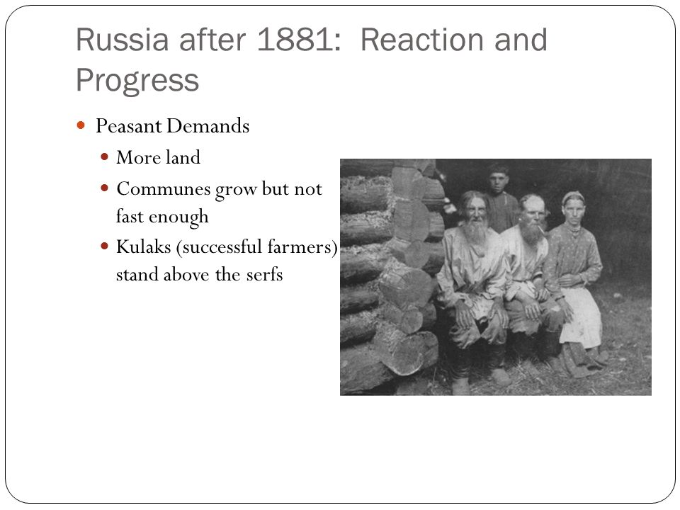 Russia after 1881: Reaction and Progress
