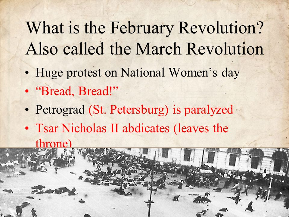 What is the February Revolution Also called the March Revolution