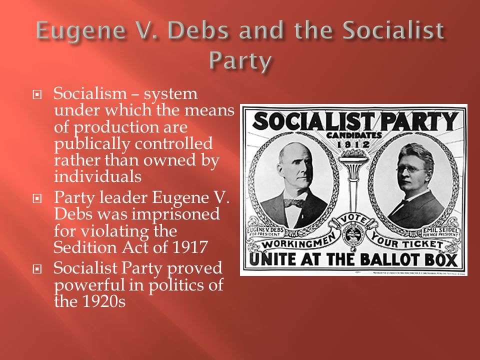 Eugene V. Debs and the Socialist Party