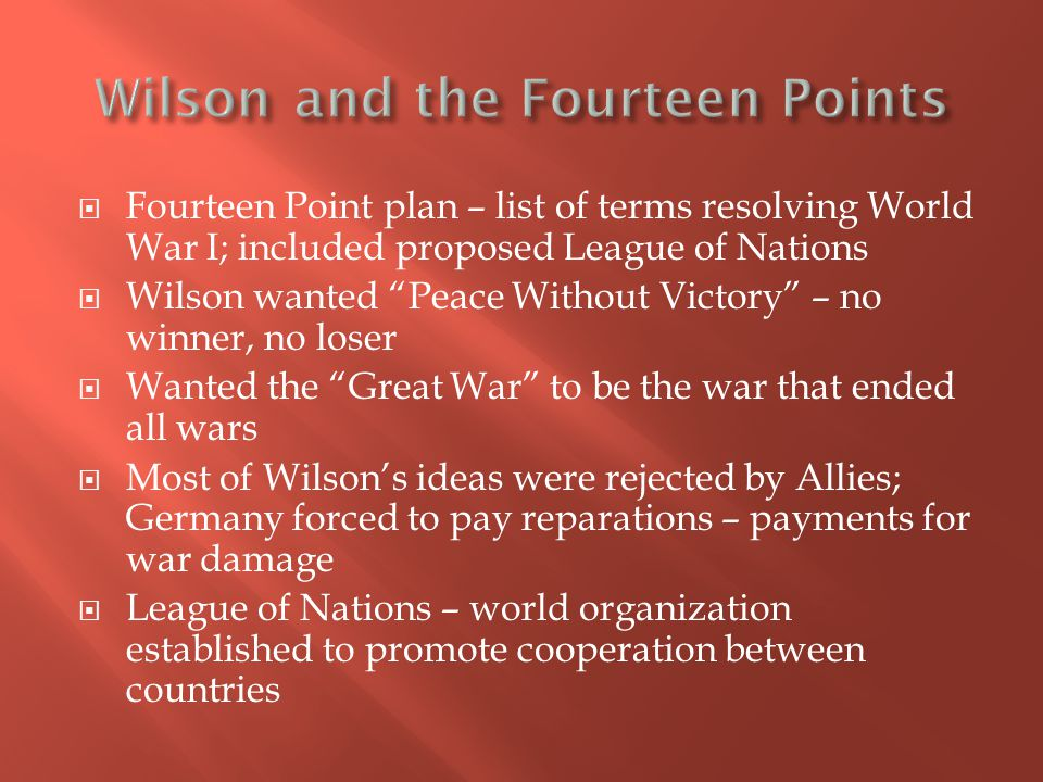 Wilson and the Fourteen Points