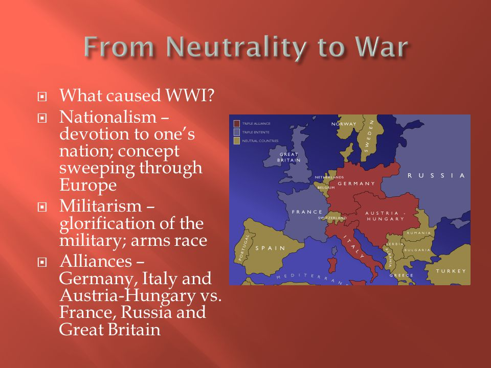 From Neutrality to War What caused WWI