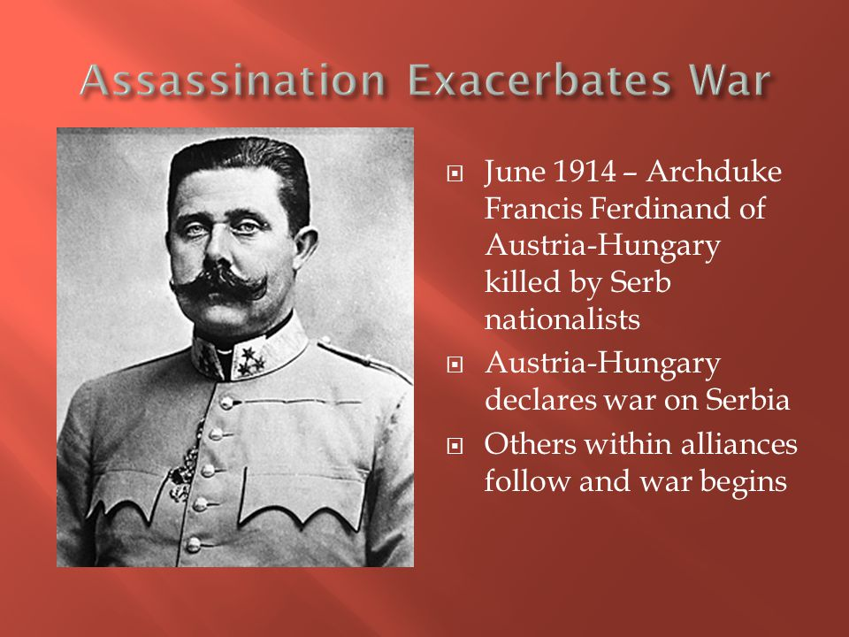 Assassination Exacerbates War