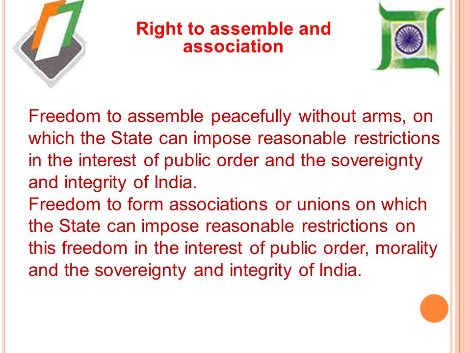 Right to assemble and association