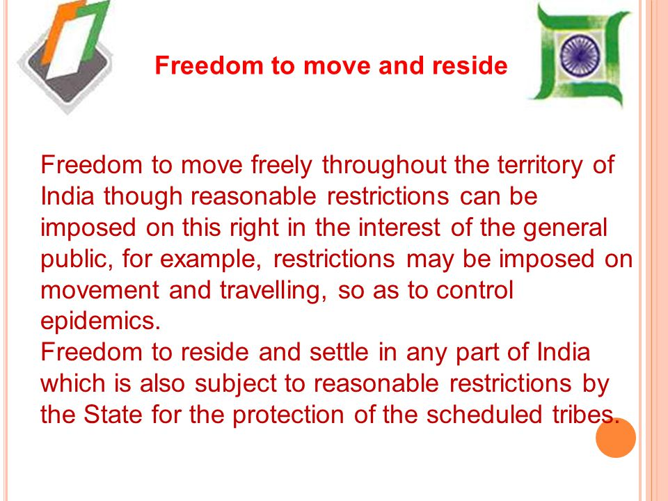 Freedom to move and reside