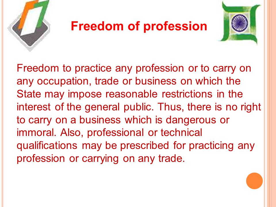 Freedom of profession