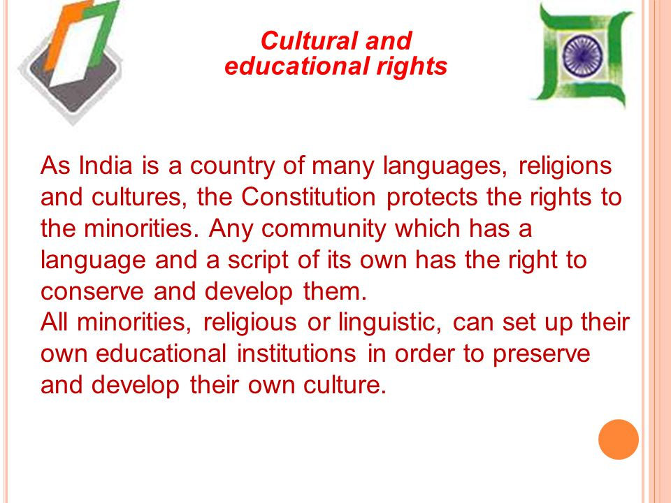 Cultural and educational rights
