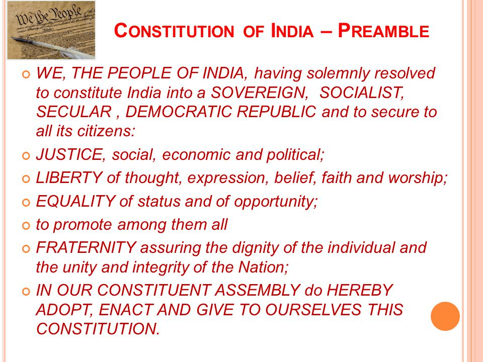 Constitution of India – Preamble