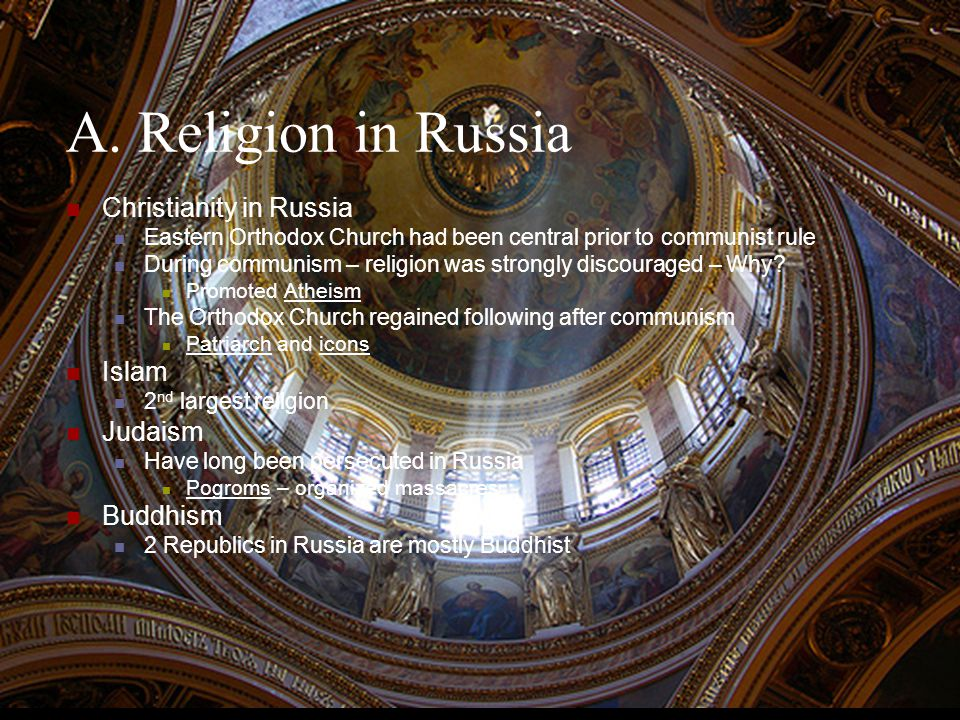 A. Religion in Russia Christianity in Russia Islam Judaism Buddhism