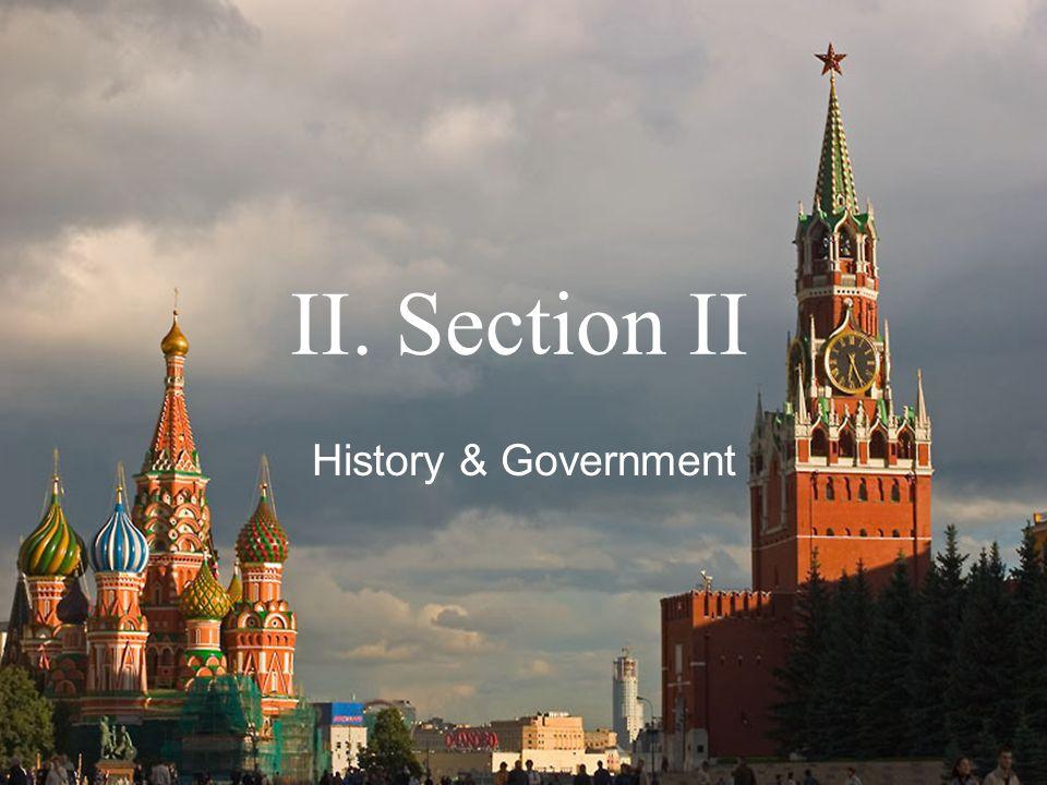 II. Section II History & Government
