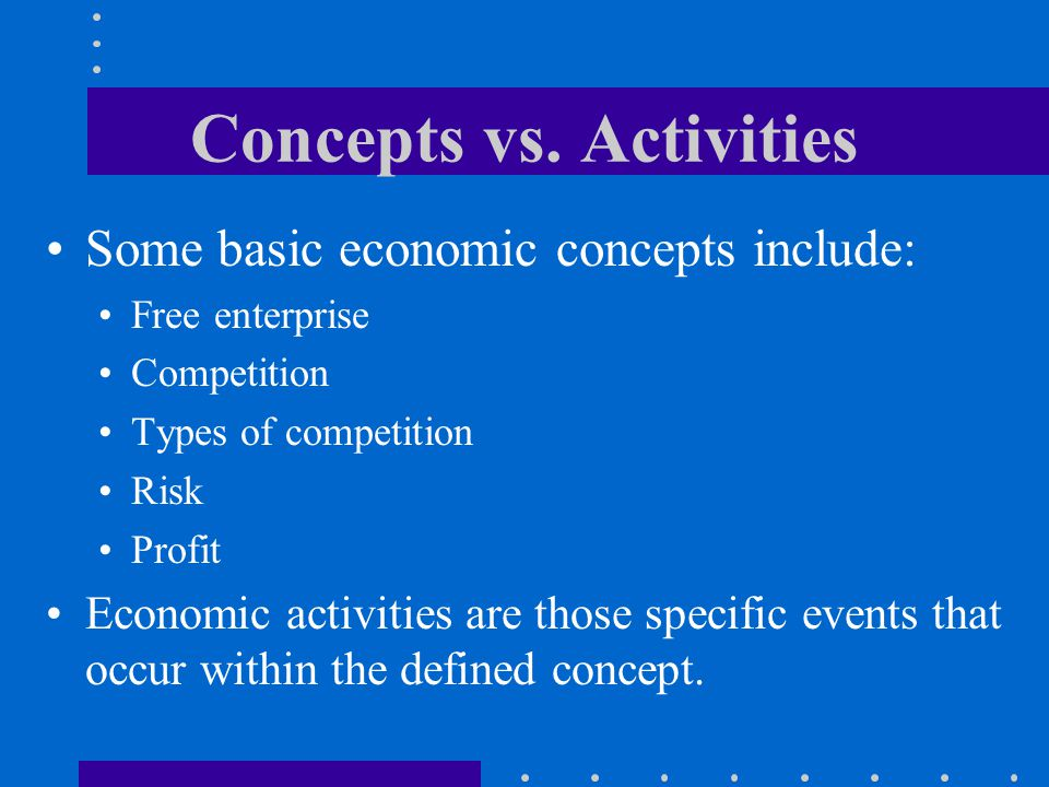 Concepts vs. Activities