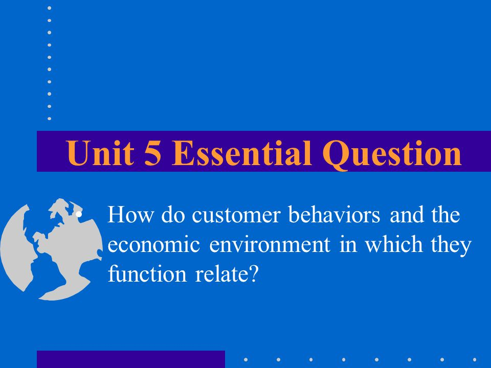 Unit 5 Essential Question