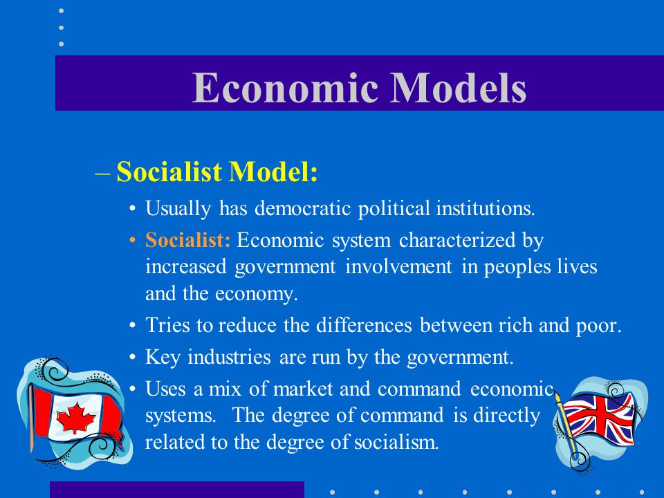 Economic Models Socialist Model: