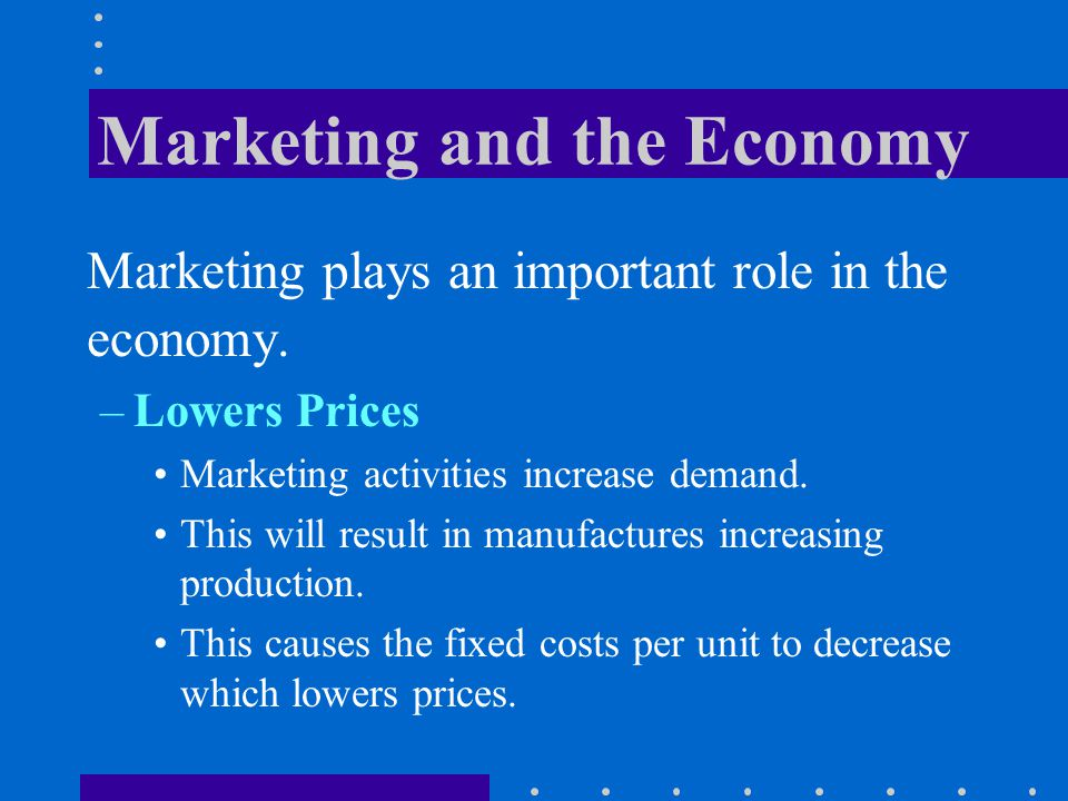 Marketing and the Economy