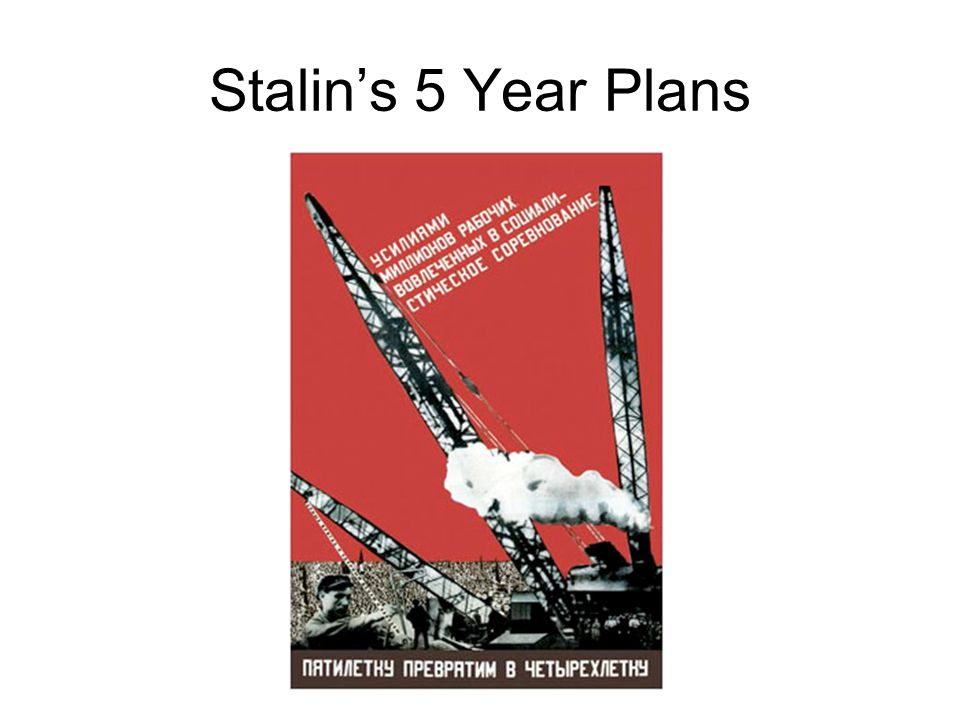 Stalin's 5 Year Plans