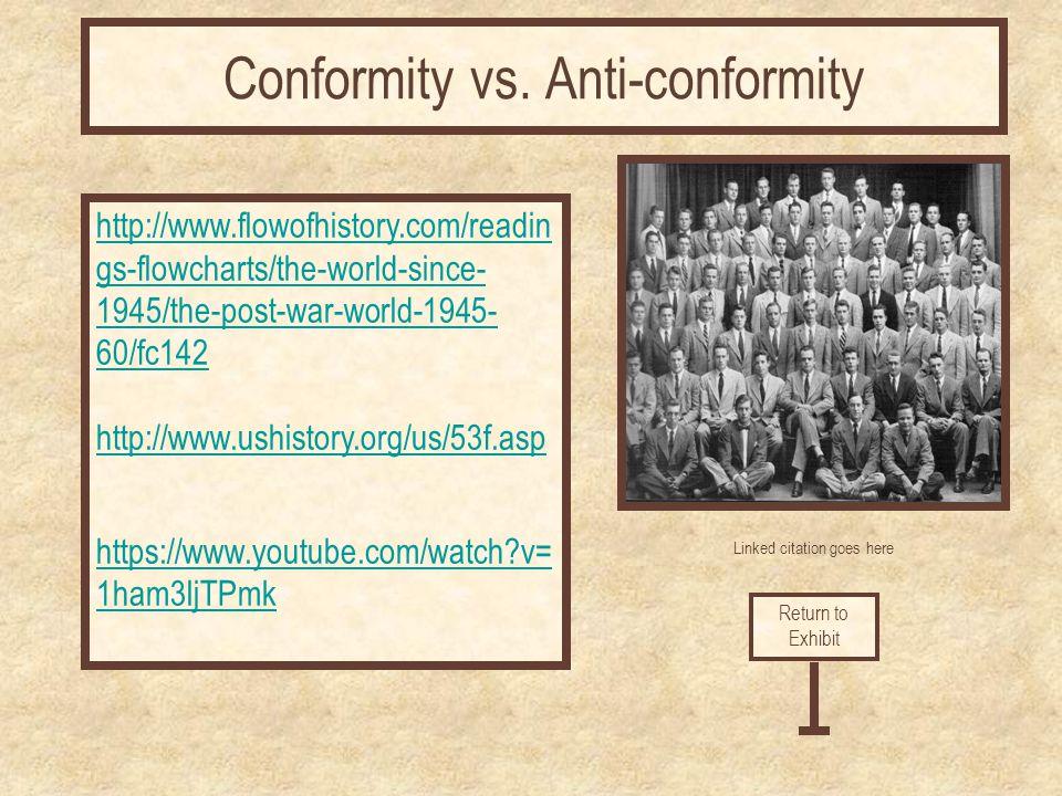 Conformity vs. Anti-conformity
