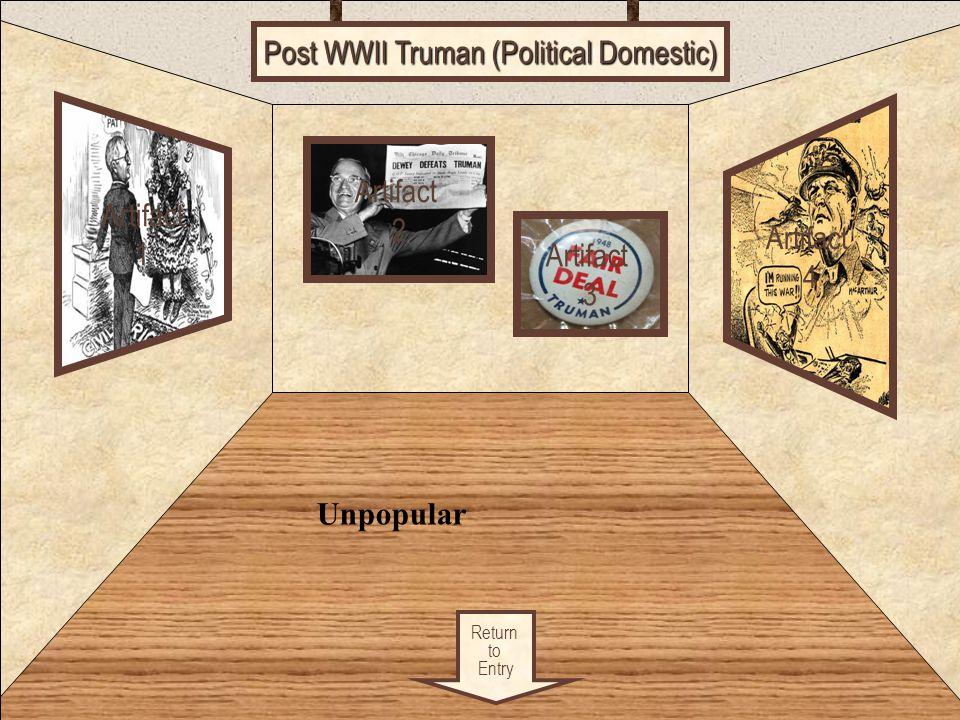 Post WWII Truman (Political Domestic)