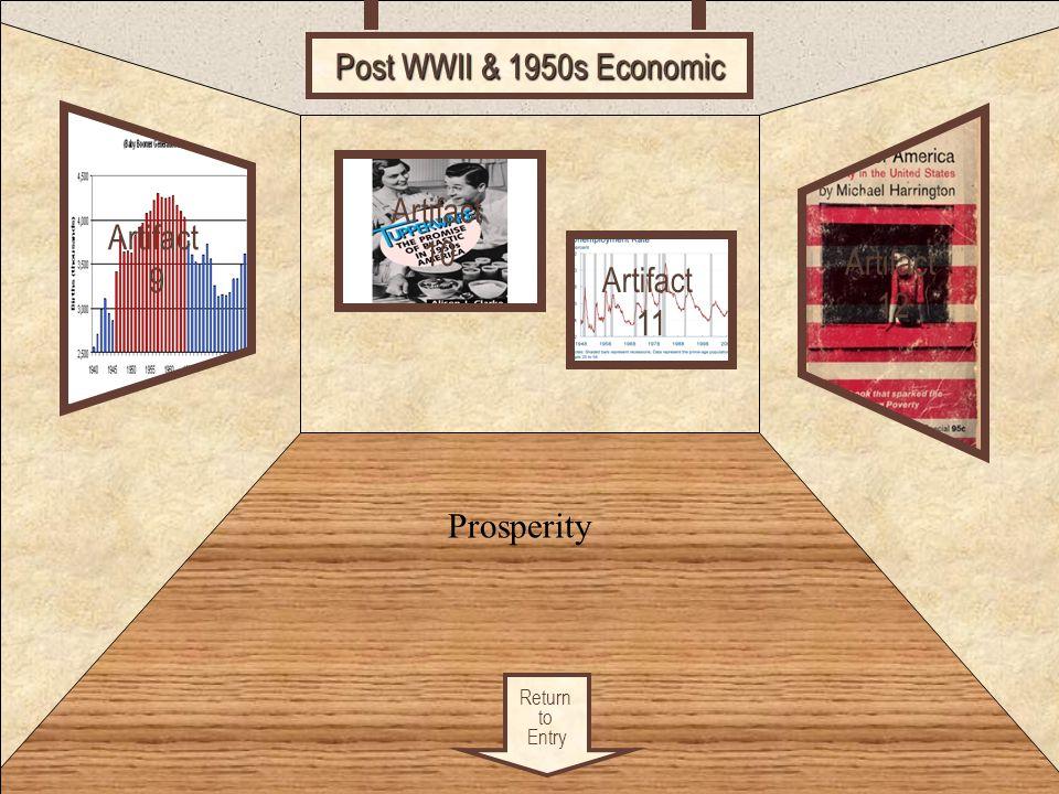 Room 3 Post WWII & 1950s Economic Artifact Artifact 10 9 Artifact 12