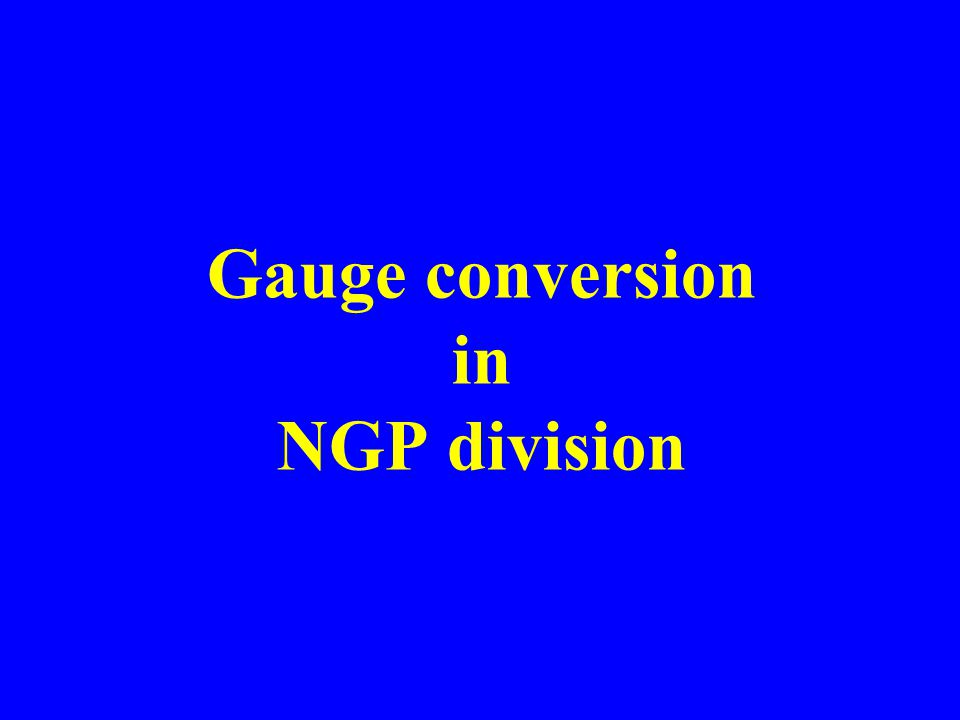 Gauge conversion in NGP division