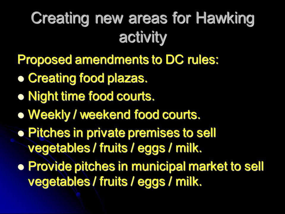 Creating new areas for Hawking activity