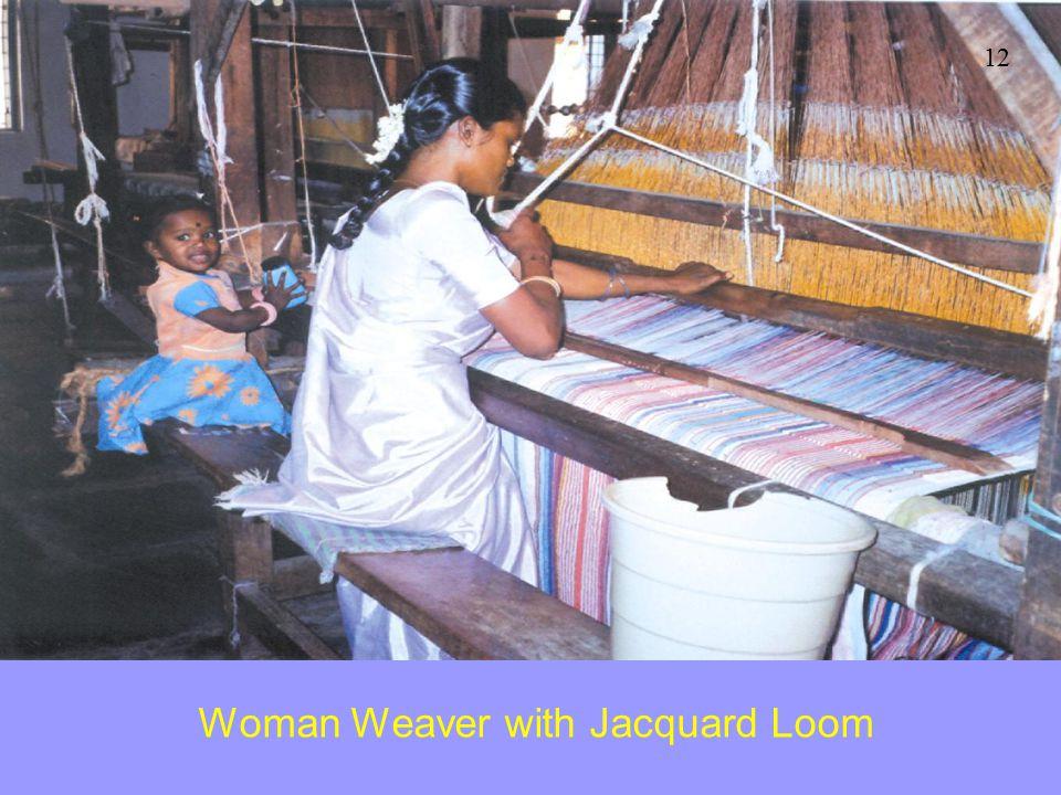 Woman Weaver with Jacquard Loom