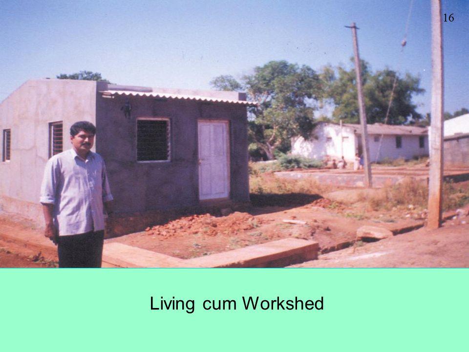 16 Living cum Workshed