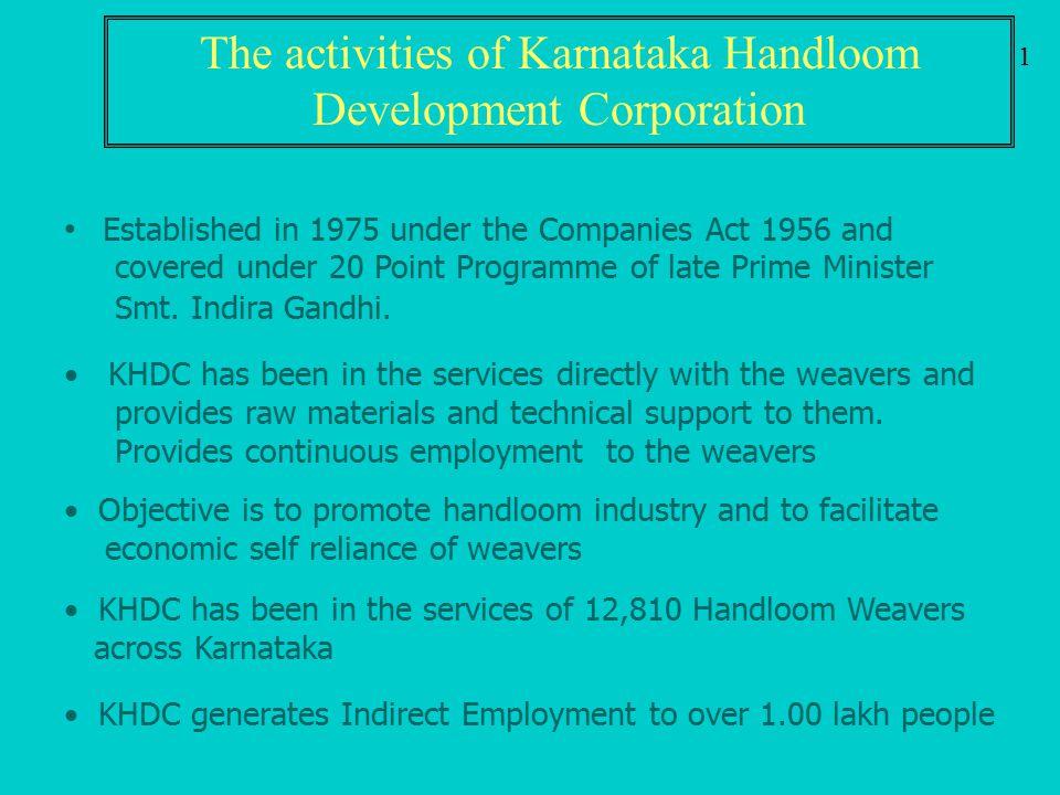 The activities of Karnataka Handloom Development Corporation
