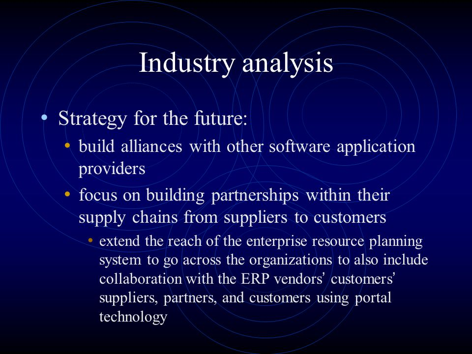 Industry analysis Strategy for the future: