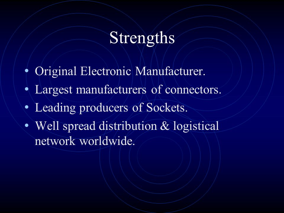 Strengths Original Electronic Manufacturer.