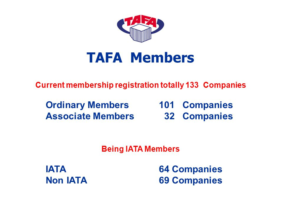 Current membership registration totally 133 Companies