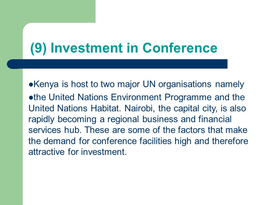 (9) Investment in Conference
