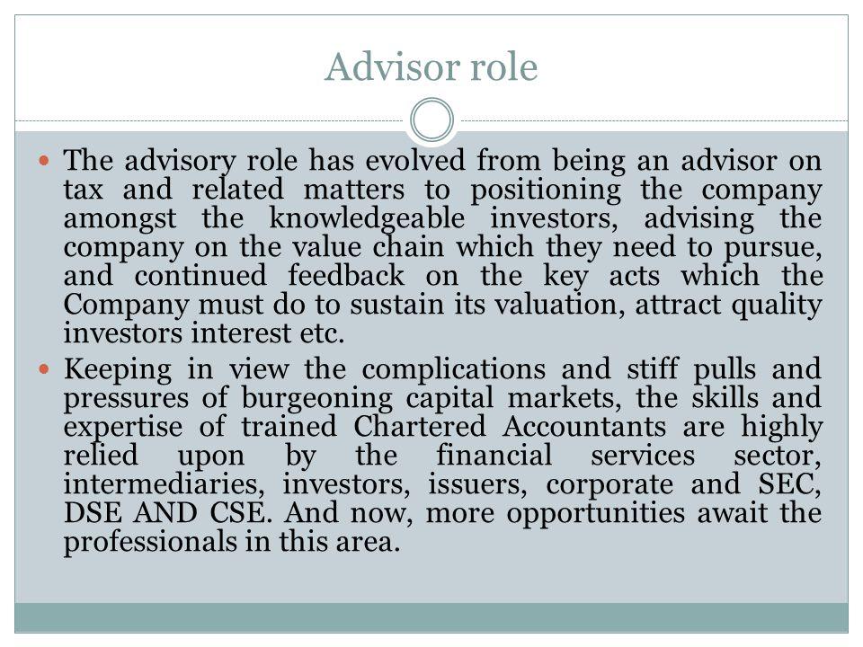 Advisor role