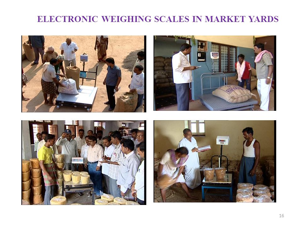 ELECTRONIC WEIGHING SCALES IN MARKET YARDS
