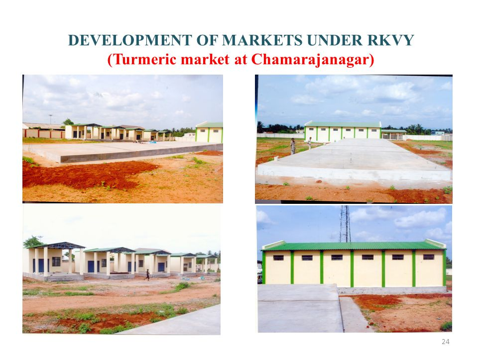 DEVELOPMENT OF MARKETS UNDER RKVY (Turmeric market at Chamarajanagar)