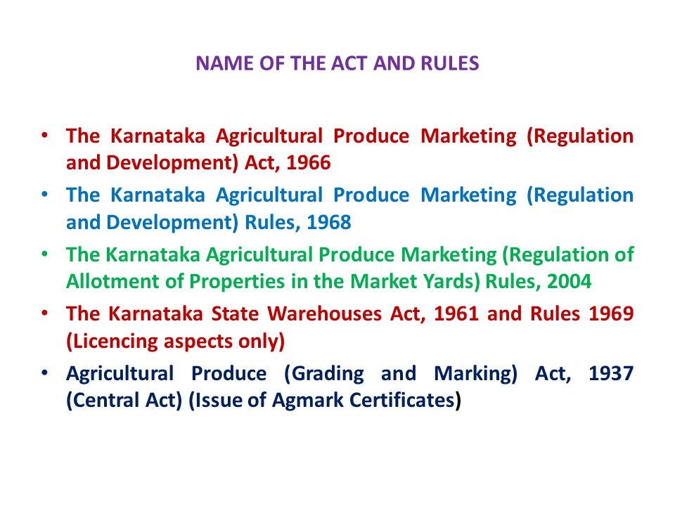 NAME OF THE ACT AND RULES