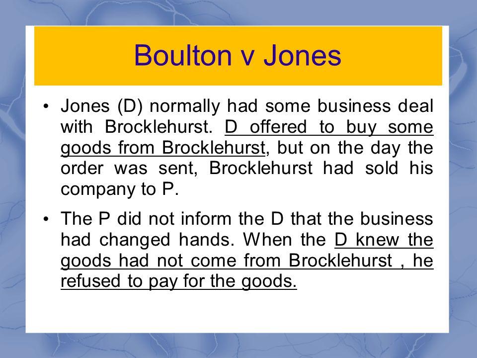 Boulton v Jones