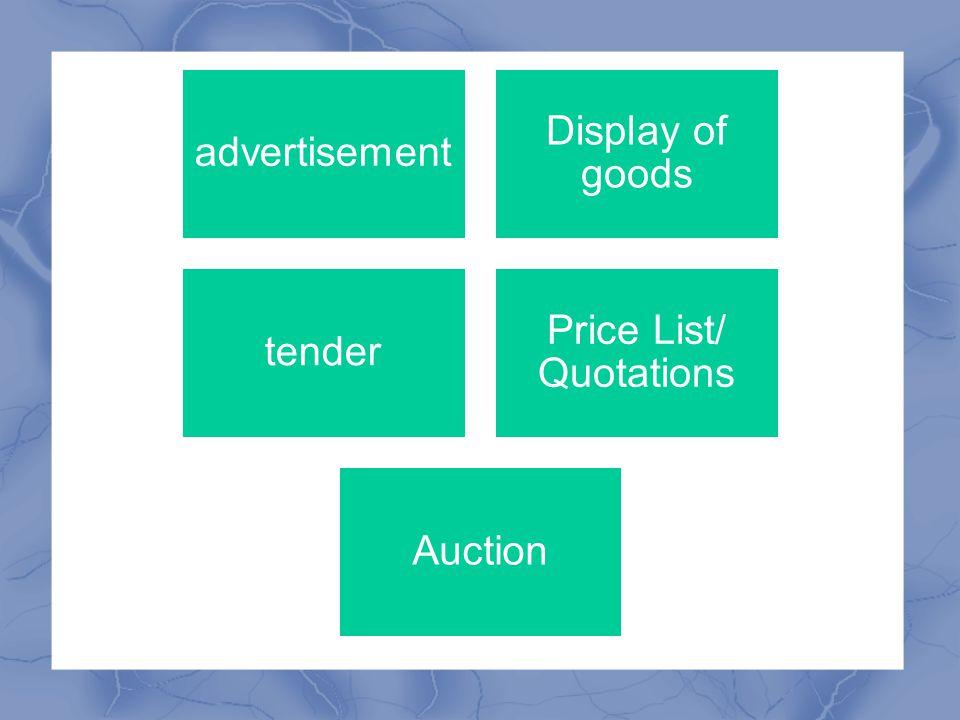 Price List/ Quotations